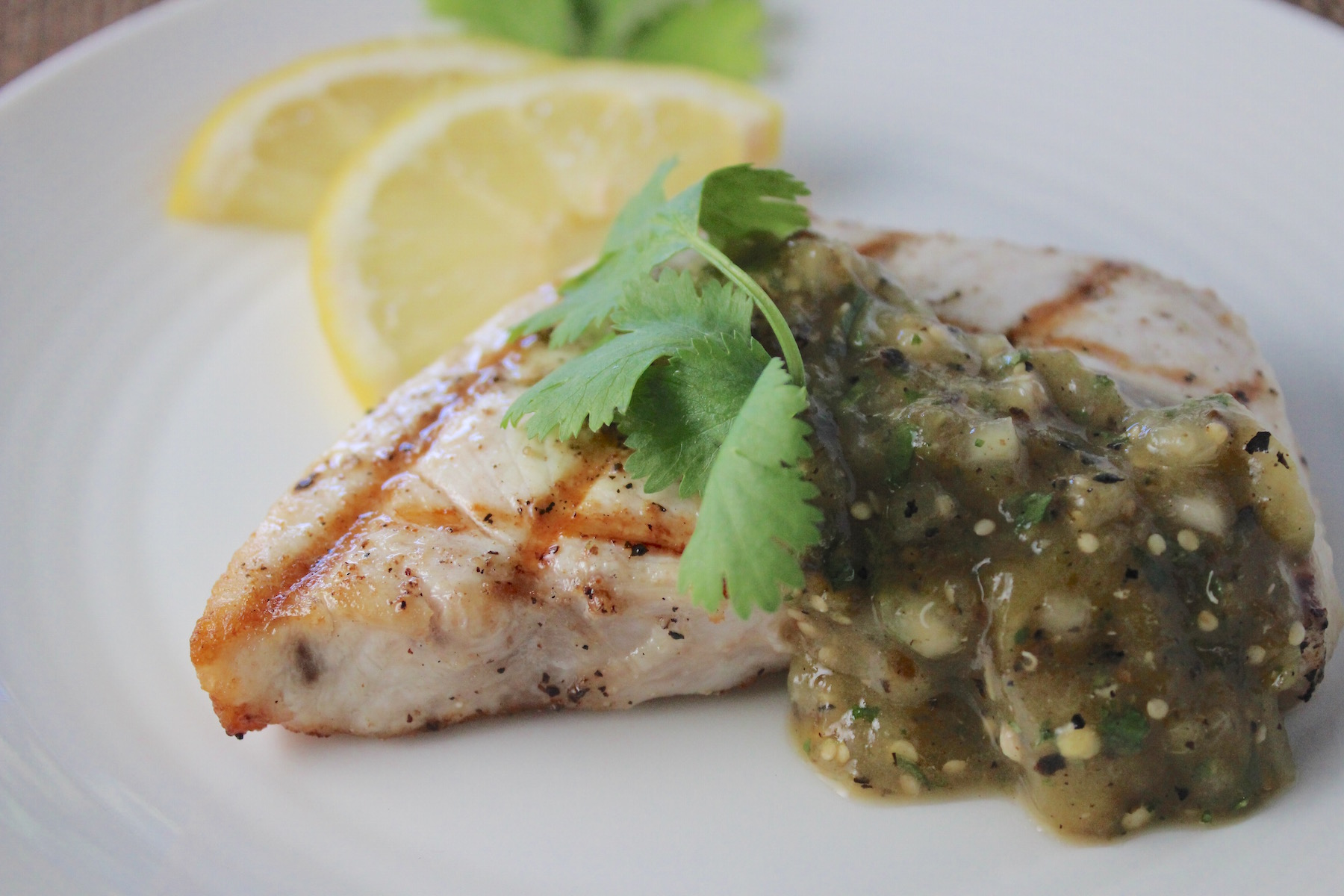 swordfish and tomatillo