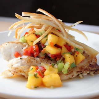 Mangrove Snapper with Peach Peppadew Salsa