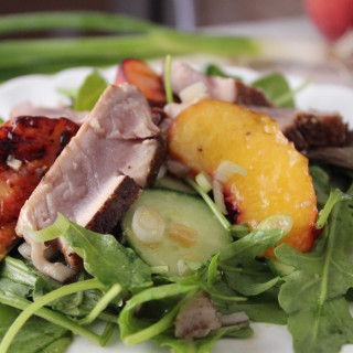 Yellowfin Tuna, Grilled Peach & Ginger Salad