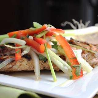 Asian Grouper with Red Pepper & Scallion Slaw