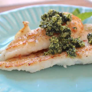 Flounder with Mint-Lemon Gremolata
