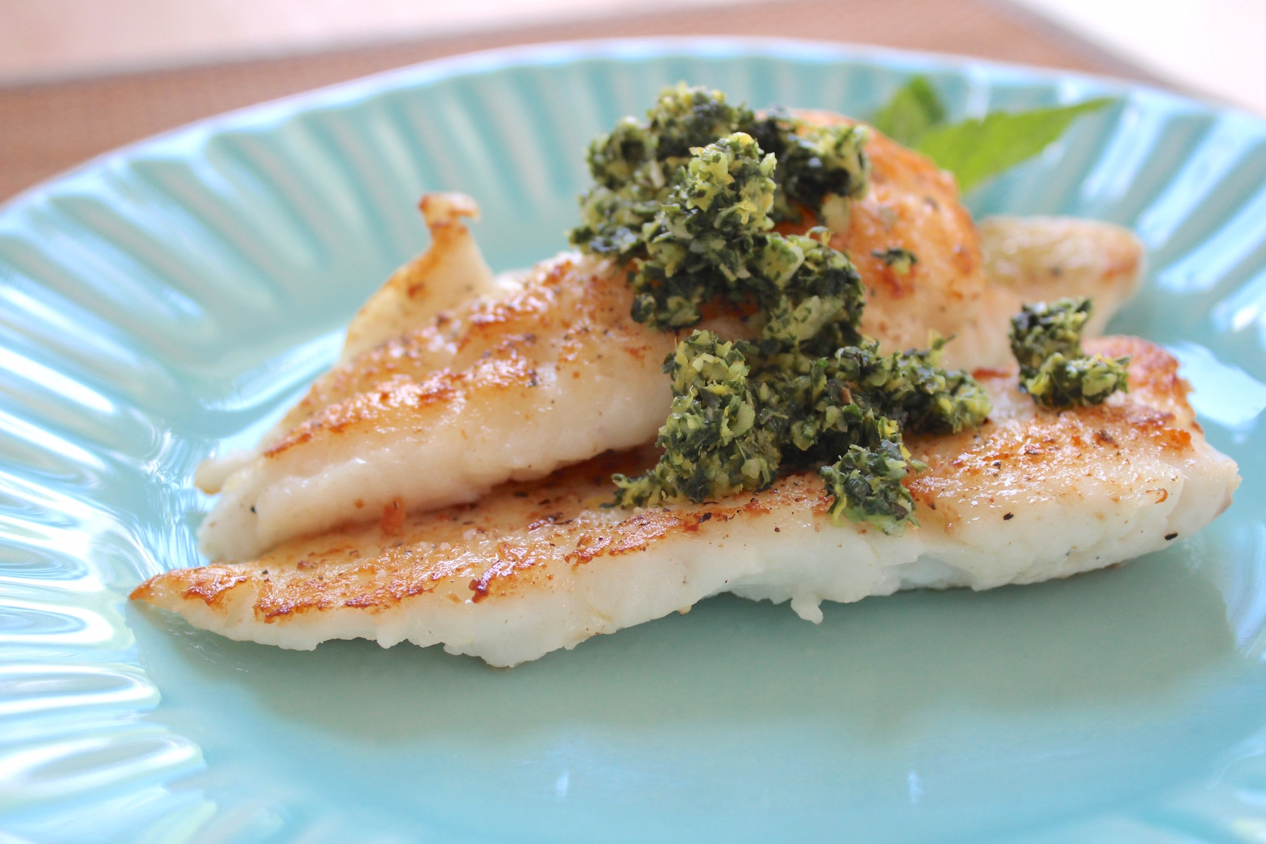 flounder with gremolata 2
