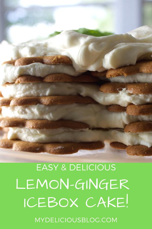 lemon ginger refrigerator cake