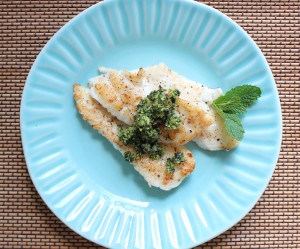 flounder with gremolata