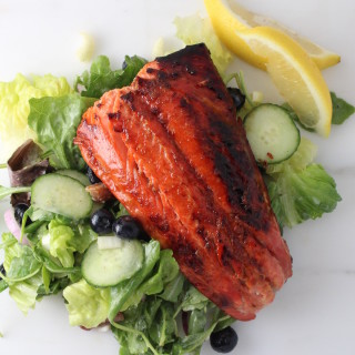 "Sugar-Lemon ""Cured"" Sockeye Salmon"