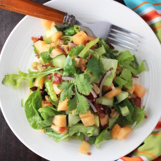 Cantaloupe, Cuke & Bacon Salad