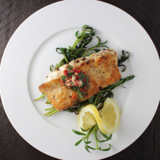 Snapper, Chile/Garlic Butter & Sauteed Purslane