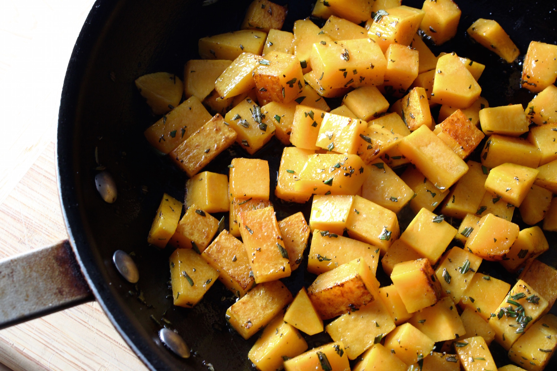 butternut squash with rosemary