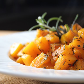Sweet Butternut Squash with Rosemary