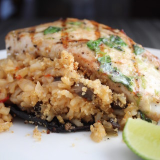 Grilled Wahoo & Stuffed Portobello
