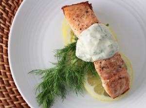 salmon with dill dijon sauce