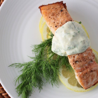 Salmon with Dill & Dijon Sauce