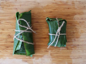 banana leaf bundles