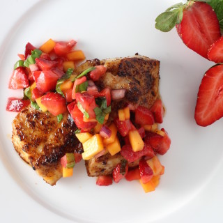 Mahi Mahi with Strawberry, Mango & Mint Salsa