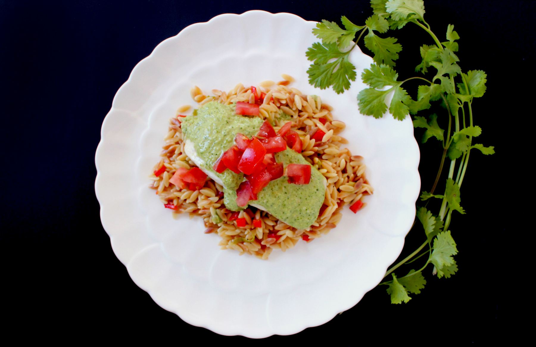 green almond sauce with fish