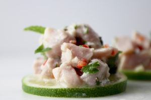 tuna ceviche with lime