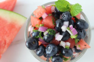 blueberry and watermelon salsa