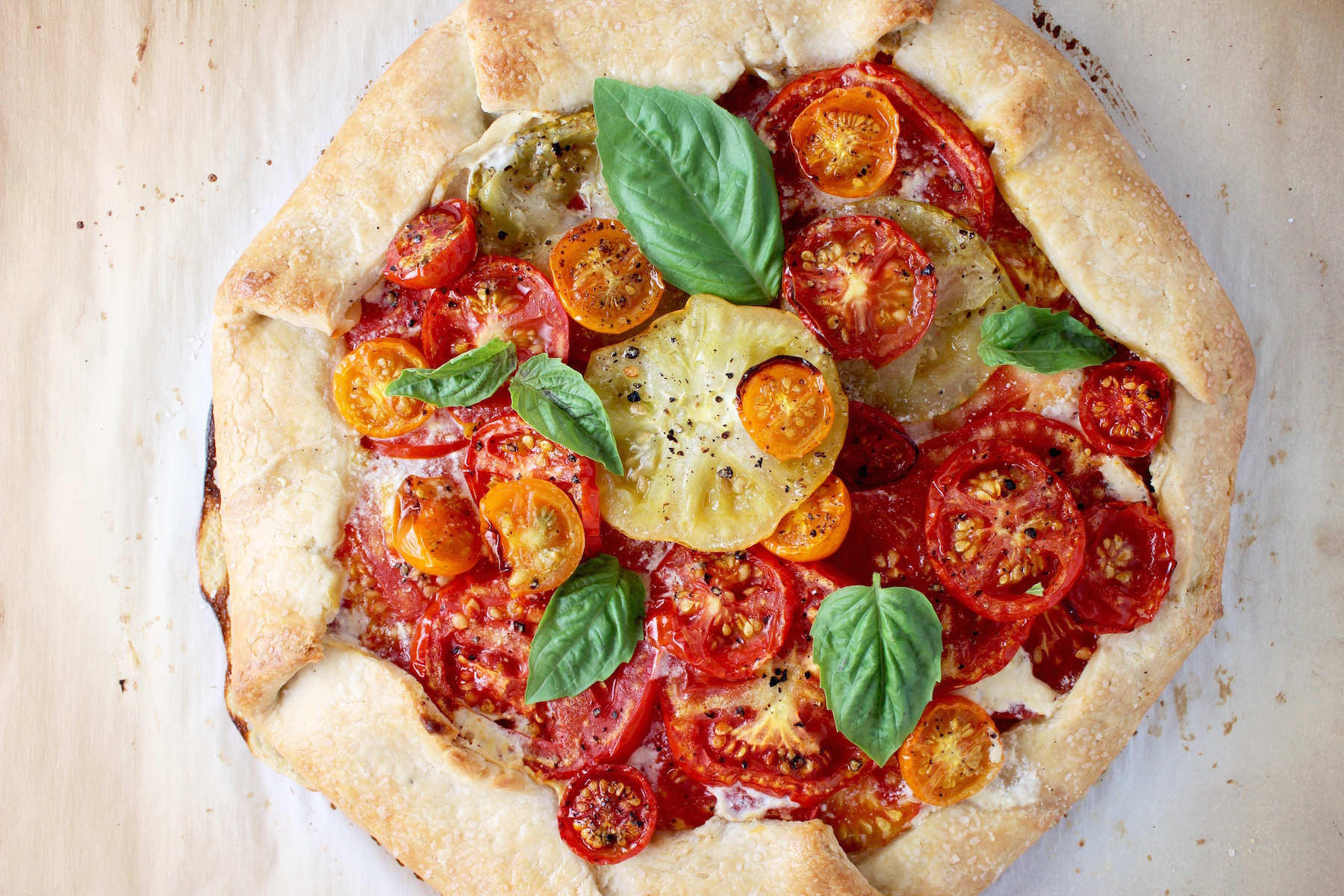 Heirloom Tomato Galette | My Delicious Blog