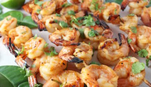 sriracha lime shrimp kobabs