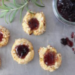 cheddar rosemary thumbprint cookies