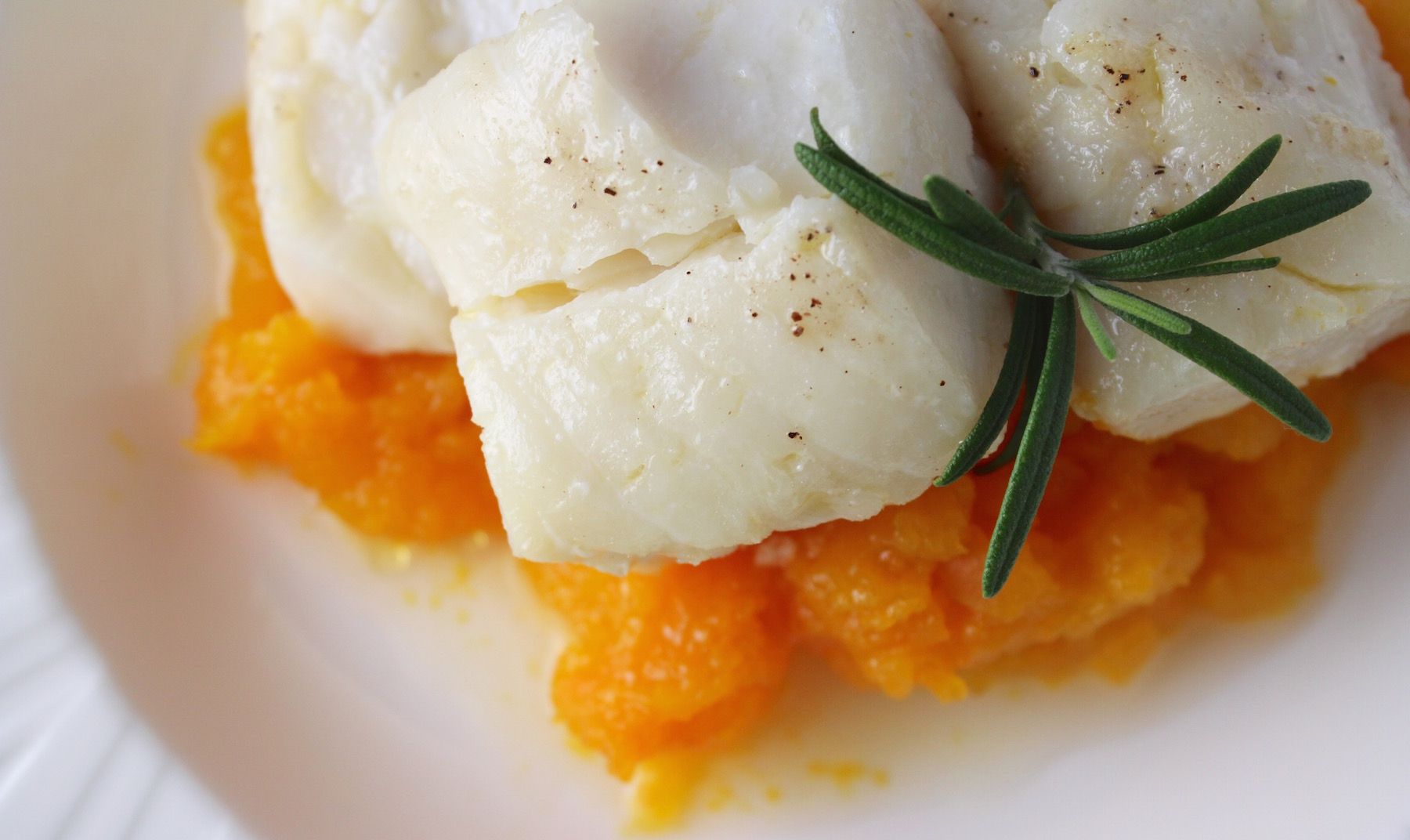 Cod Poached in Rosemary Olive Oil