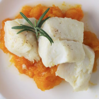 Olive Oil Poached Cod with Rosemary, Garlic & Lemon
