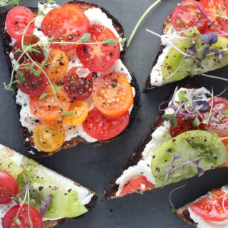 Colorful Tomato Tartines