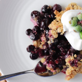 Blueberry-Basil Crisp