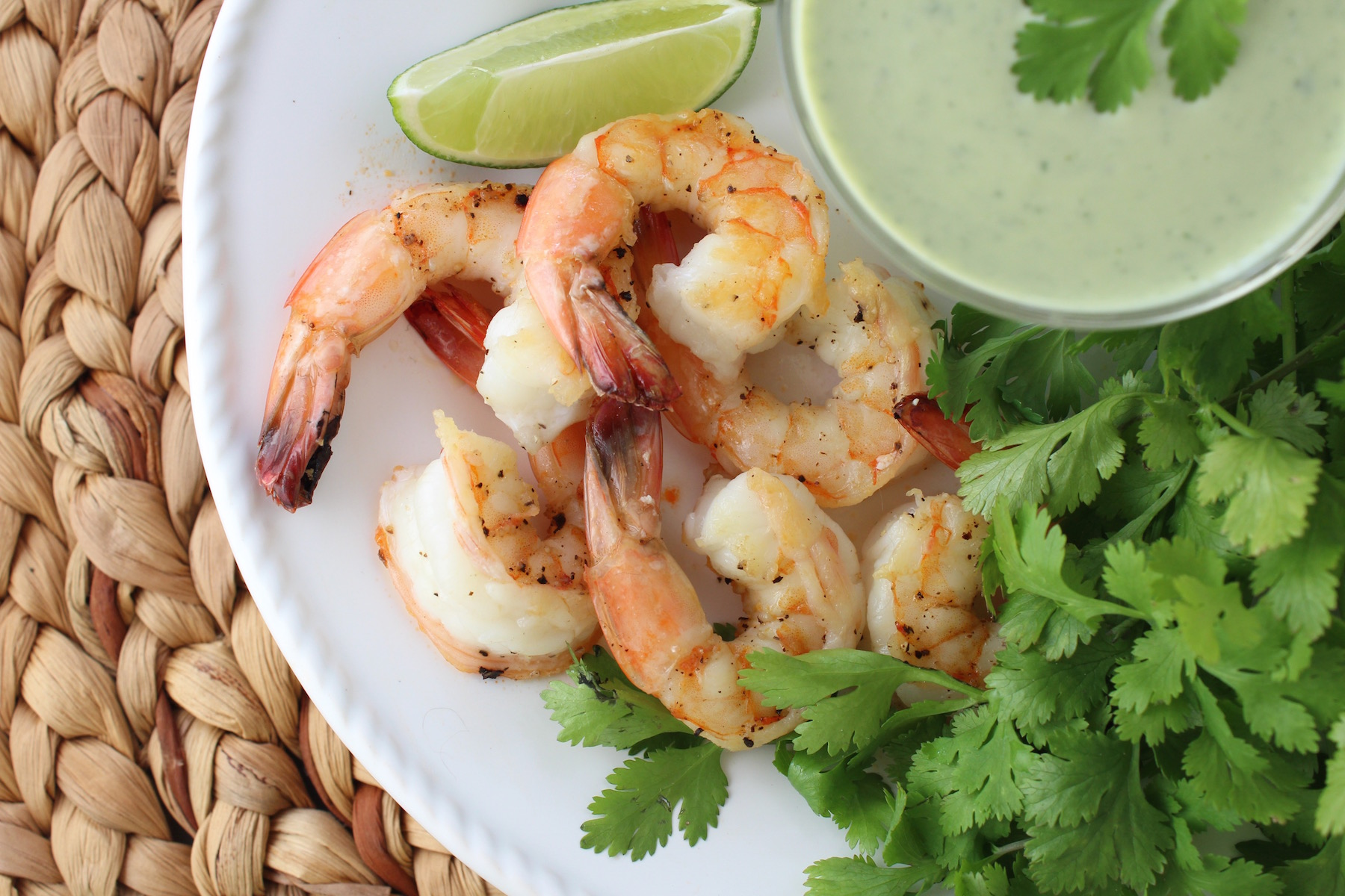 Shrimp Lemongrass Lime Cilantro