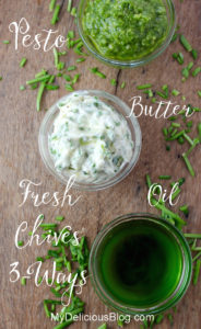 Chive Pesto Butter Oil