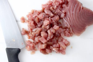 Chopped Yellowfin Tuna