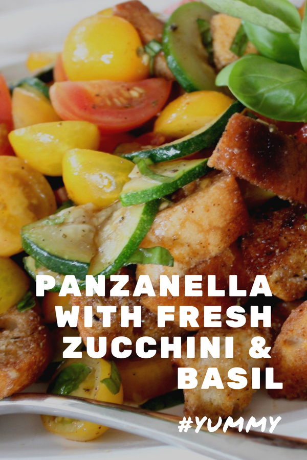 panzanella with zucchini and basil