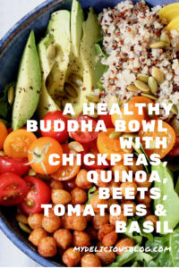 Buddha Bowl chickpeas beets tomatoes
