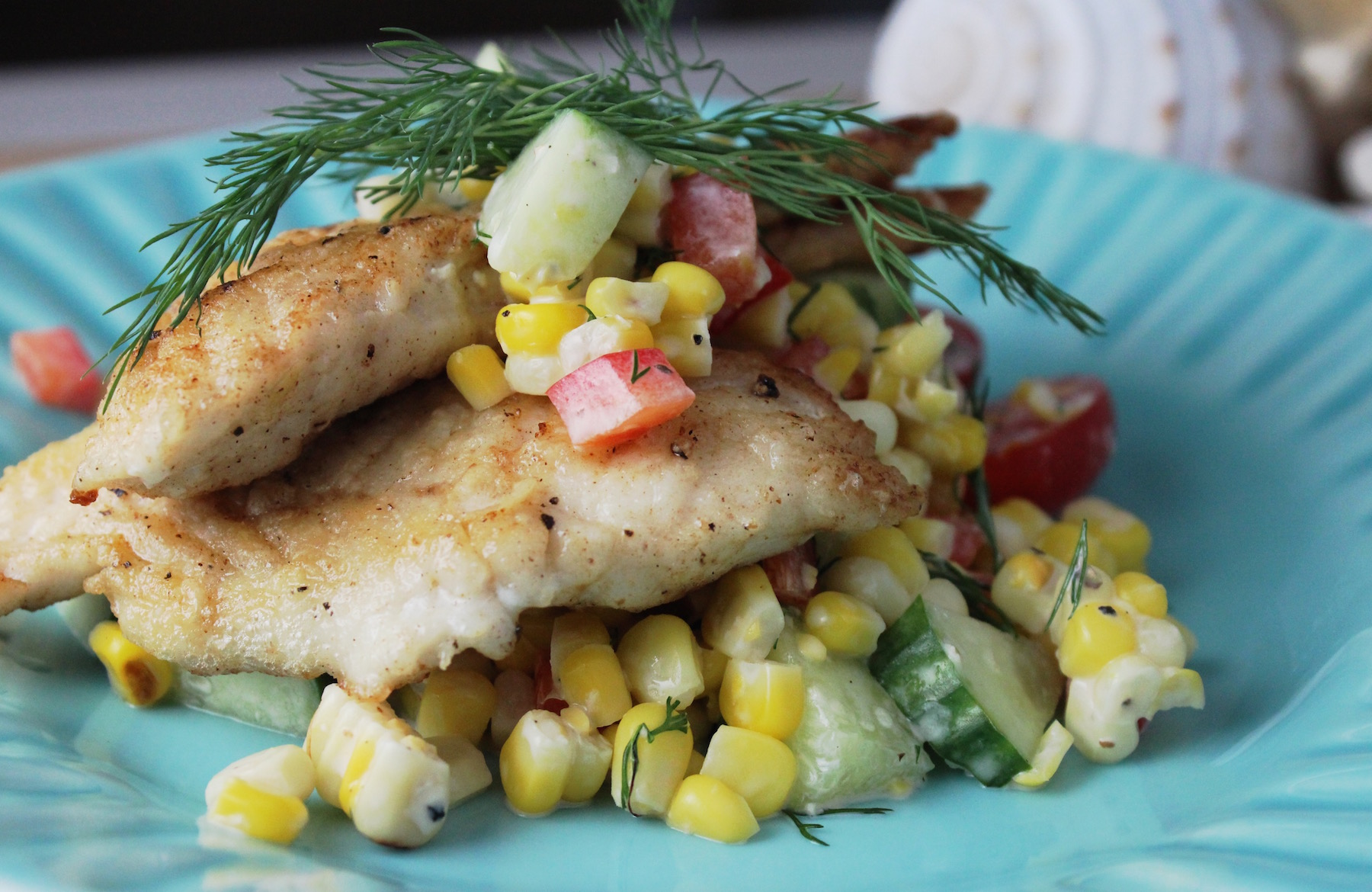 Porgy Corn Salad