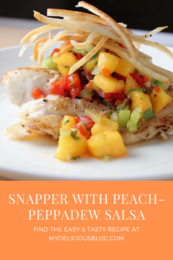 Red Snapper with peach peppadew
