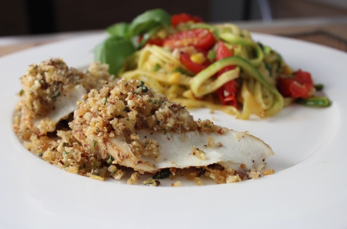 Trout with Lemon Herb Crust