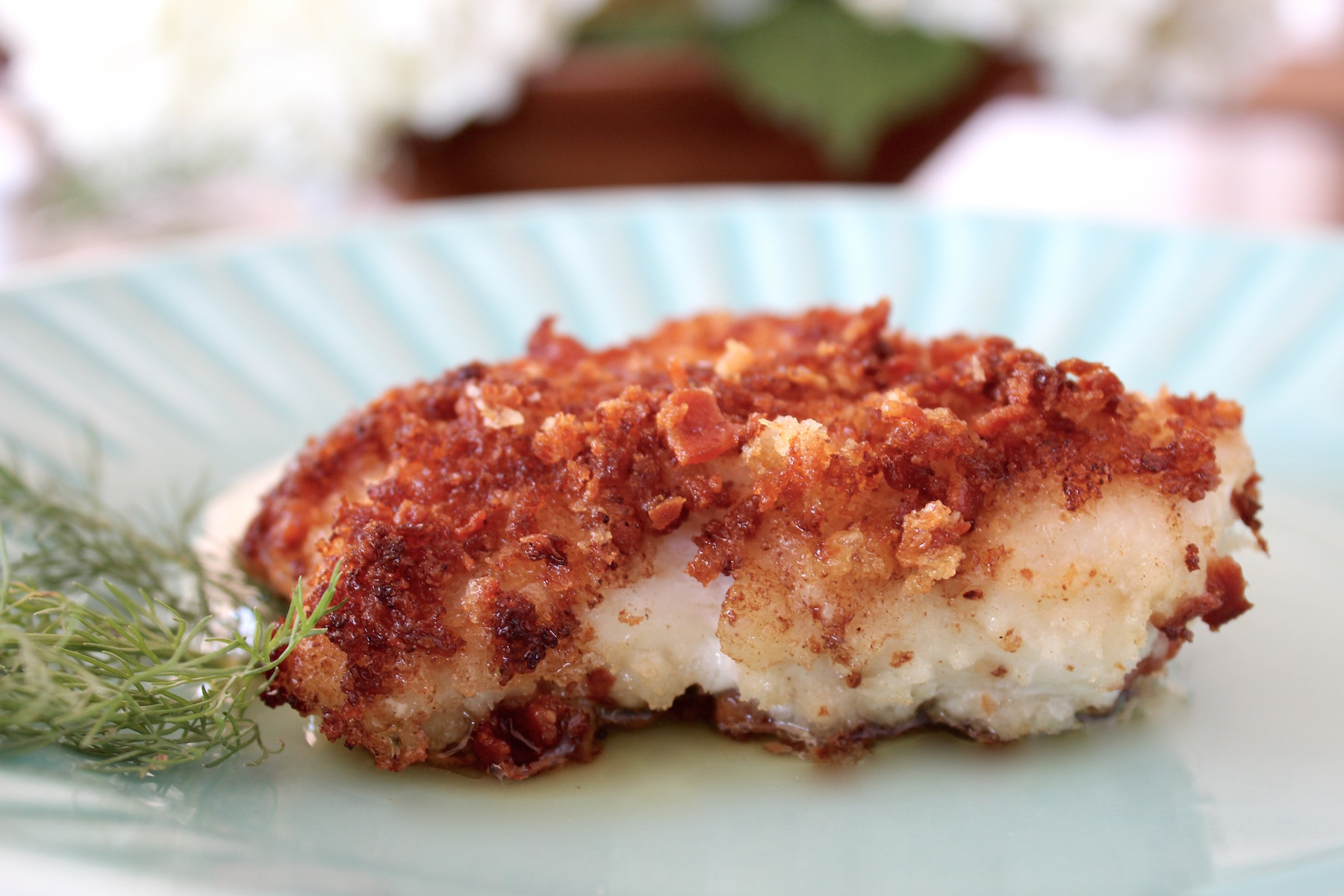 grouper panko bacon