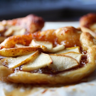 pear galette with fig jam