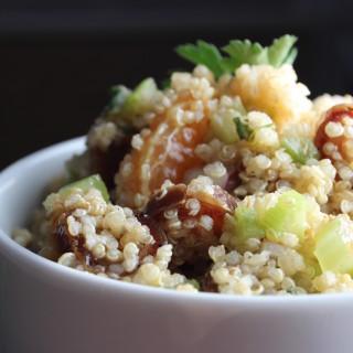 quinoa date basil salad bowl