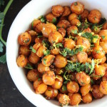 crispy spicy sweet chickpeas