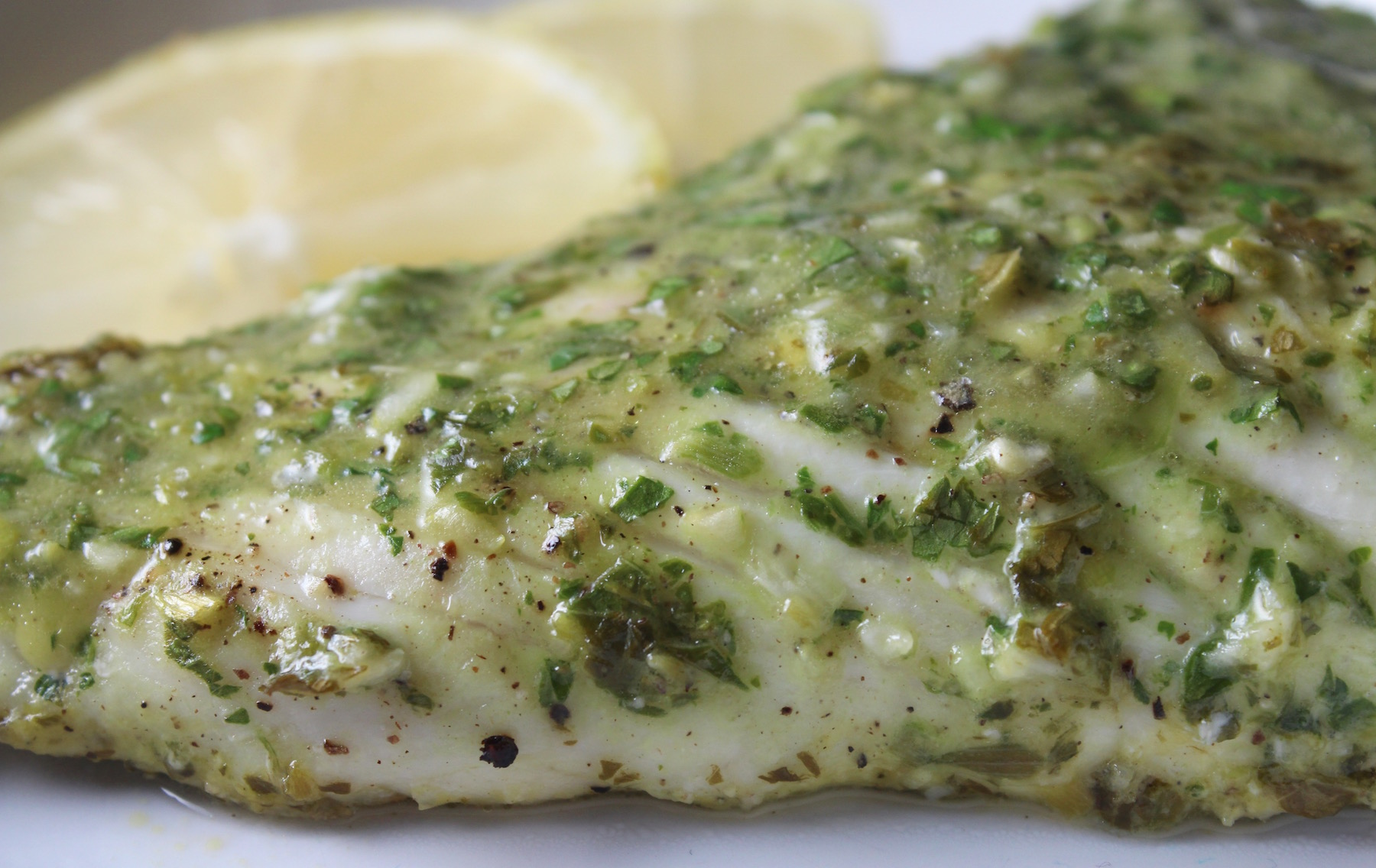Lemon Parsley Grouper with Lemons