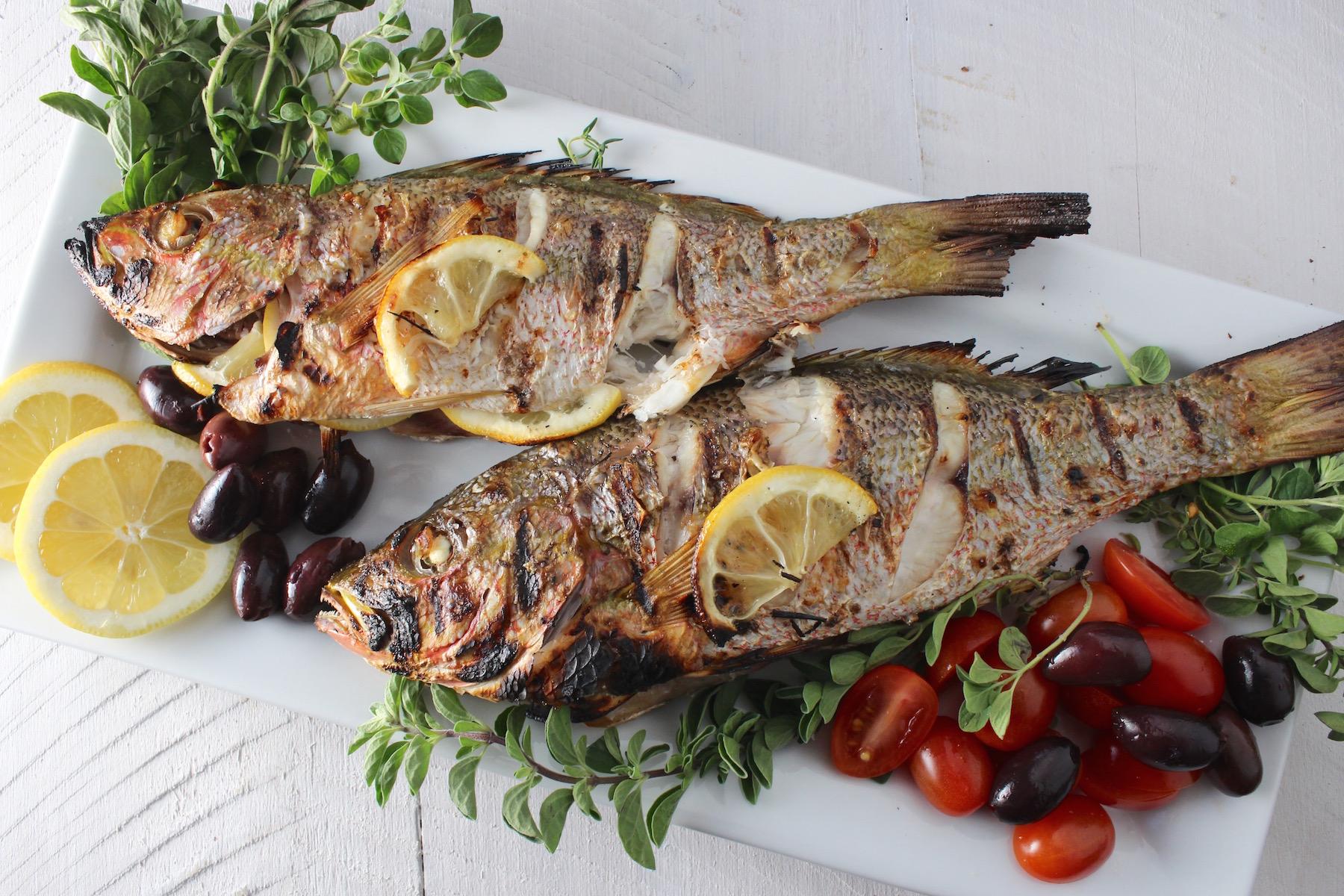 greek whole roasted snapper