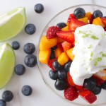 fruit salad with coconut cream