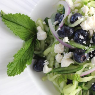 cucumber mint blueberry feta salad