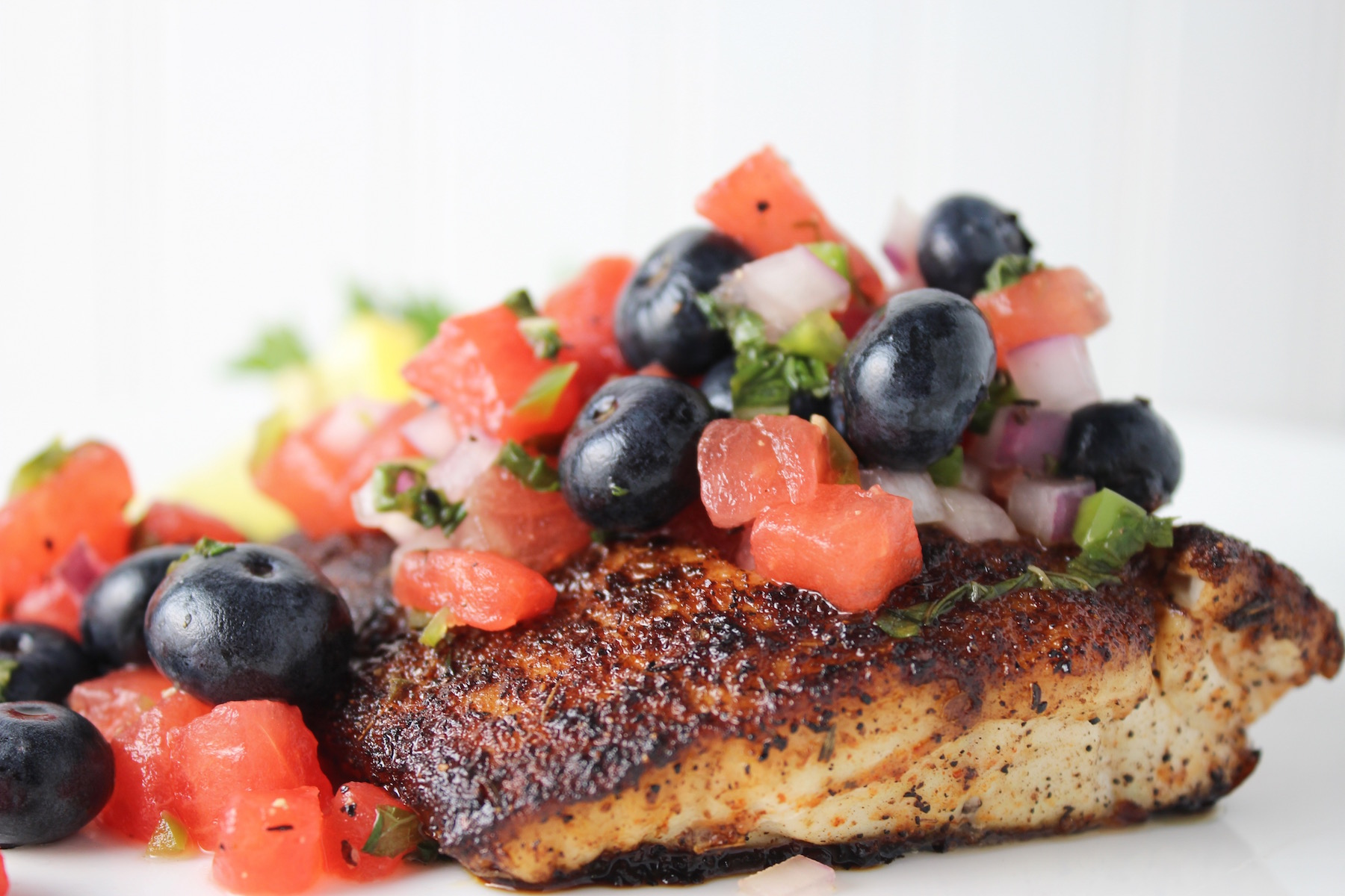 snapper and blueberry watermelon