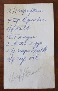 waffles recipe