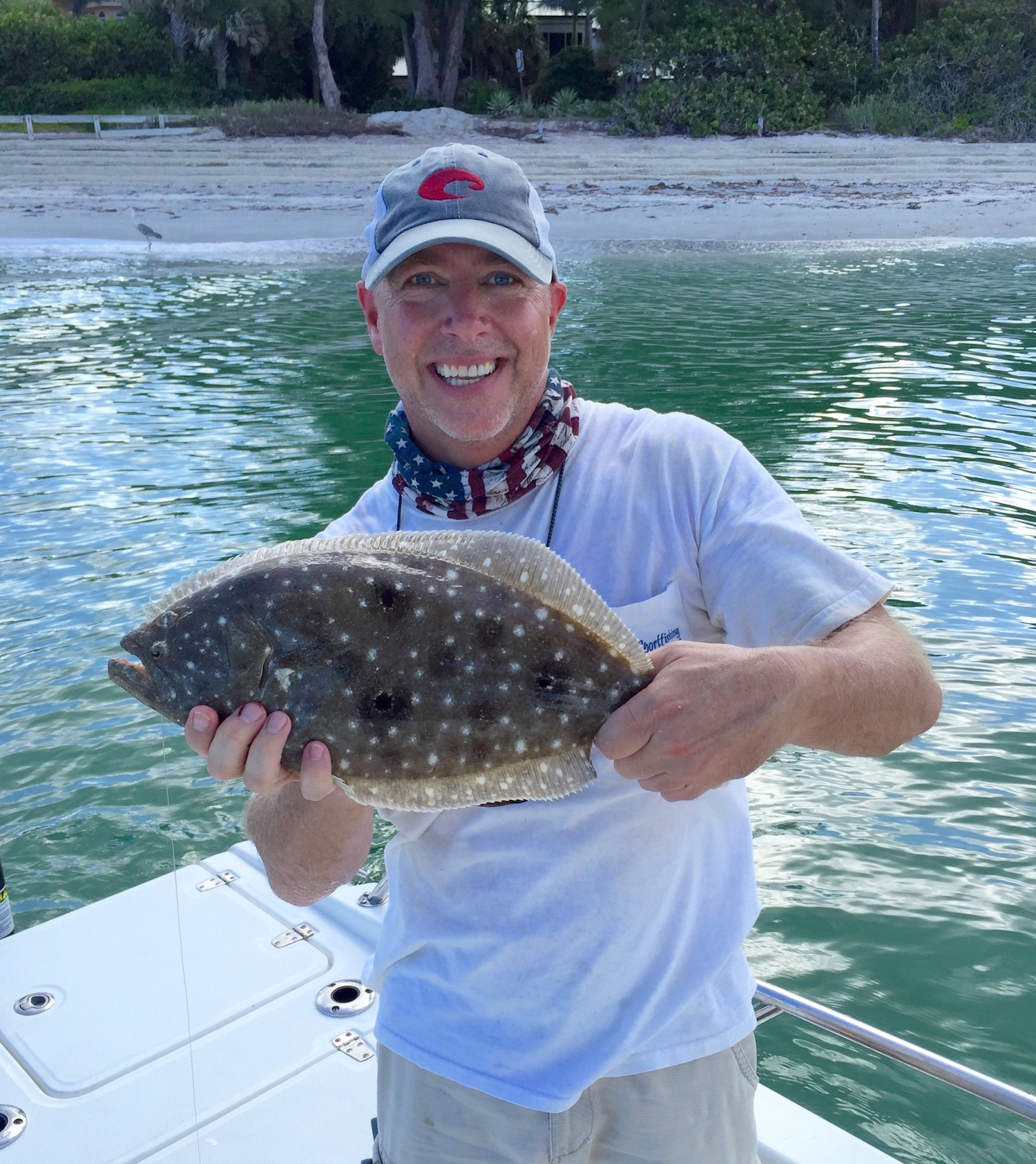 Brendan with Flounder