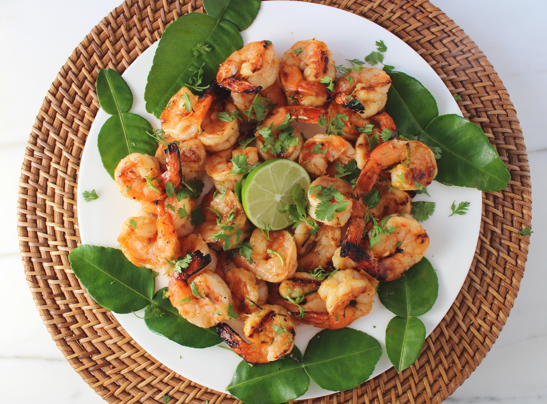 sriracha kaffir lime shrimp
