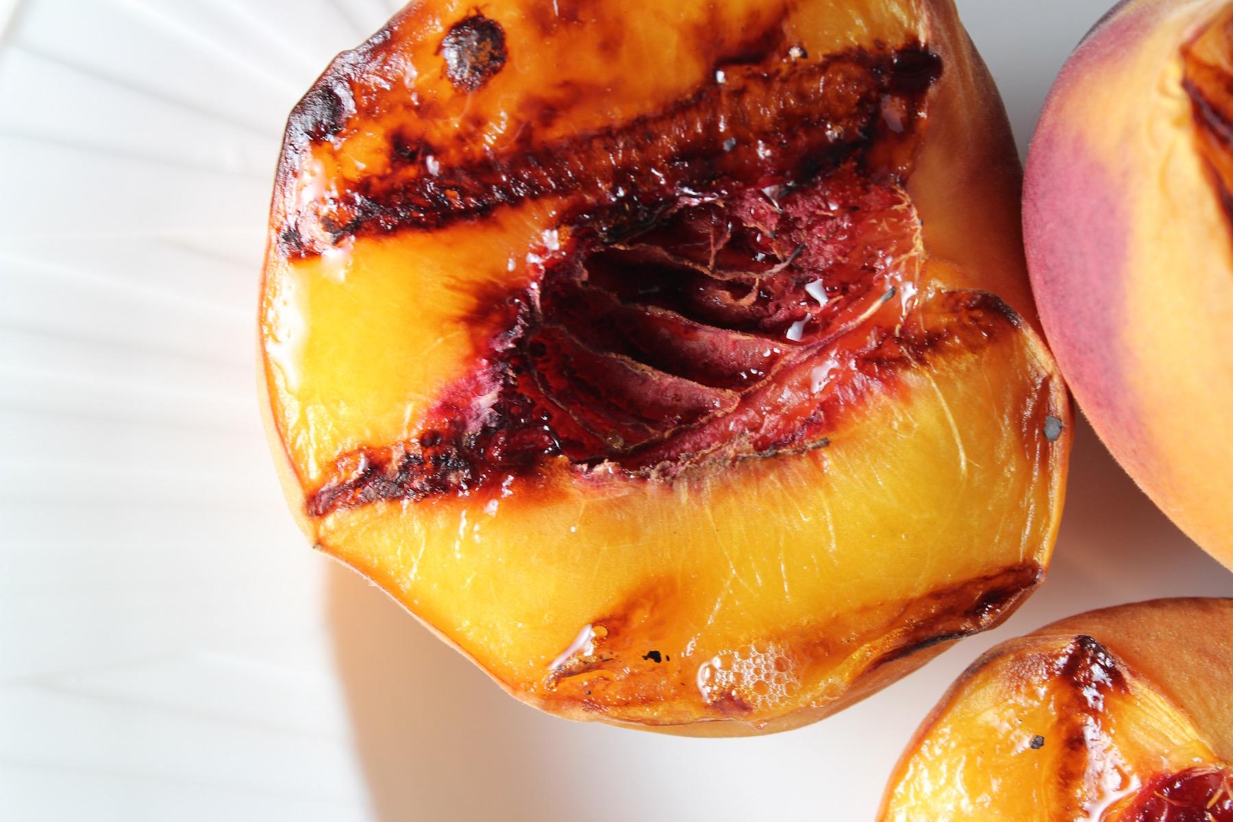 grilled peach no ice cream