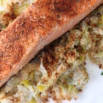 king salmon with creamed leeks